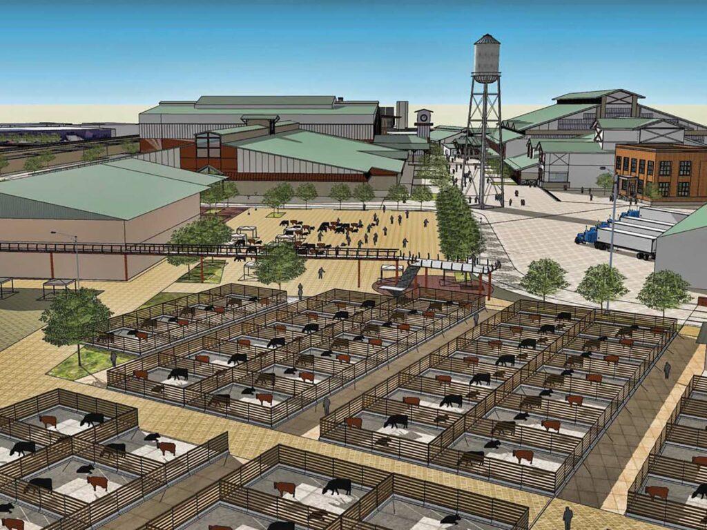 Rendering of stockyards