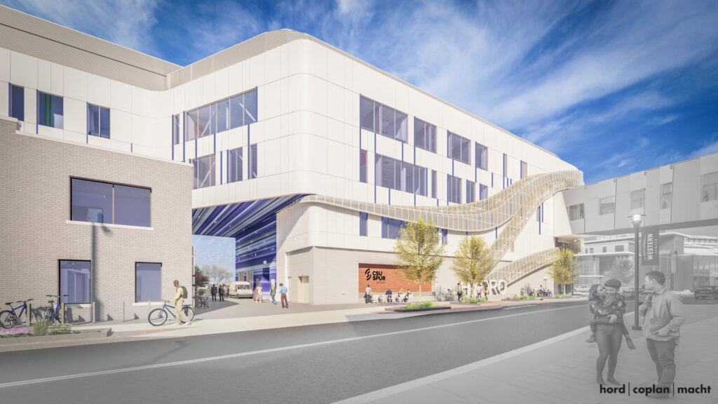 Streetview rendering of the Hydro alley.