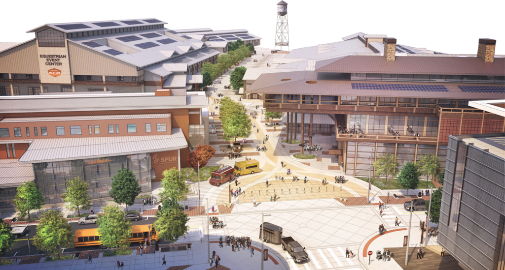 Rendering of the National Western Center main plaza