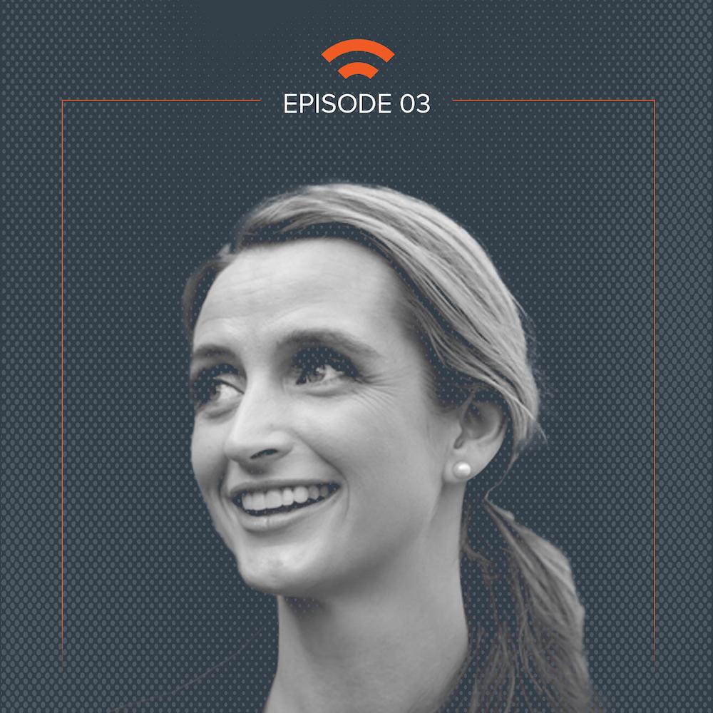 Podcast art with Kristin Kirkpatrick headshot