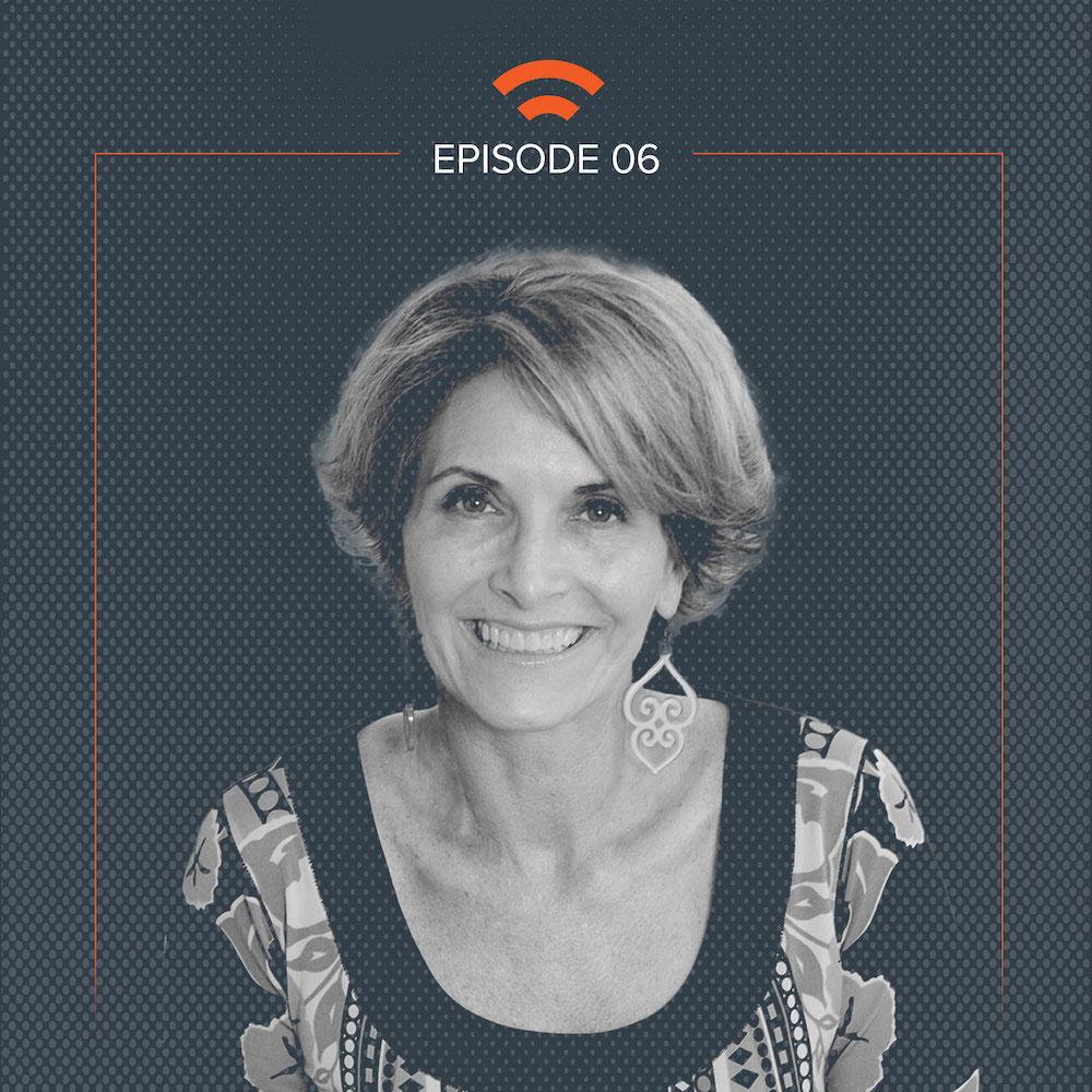 Podcast art with Kerri Wright Platais headshot